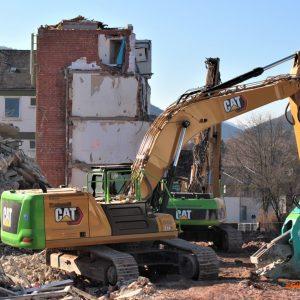 Abriss des Olsberger Krankenhauses und des Hauses Steinrücken-Buchbinders